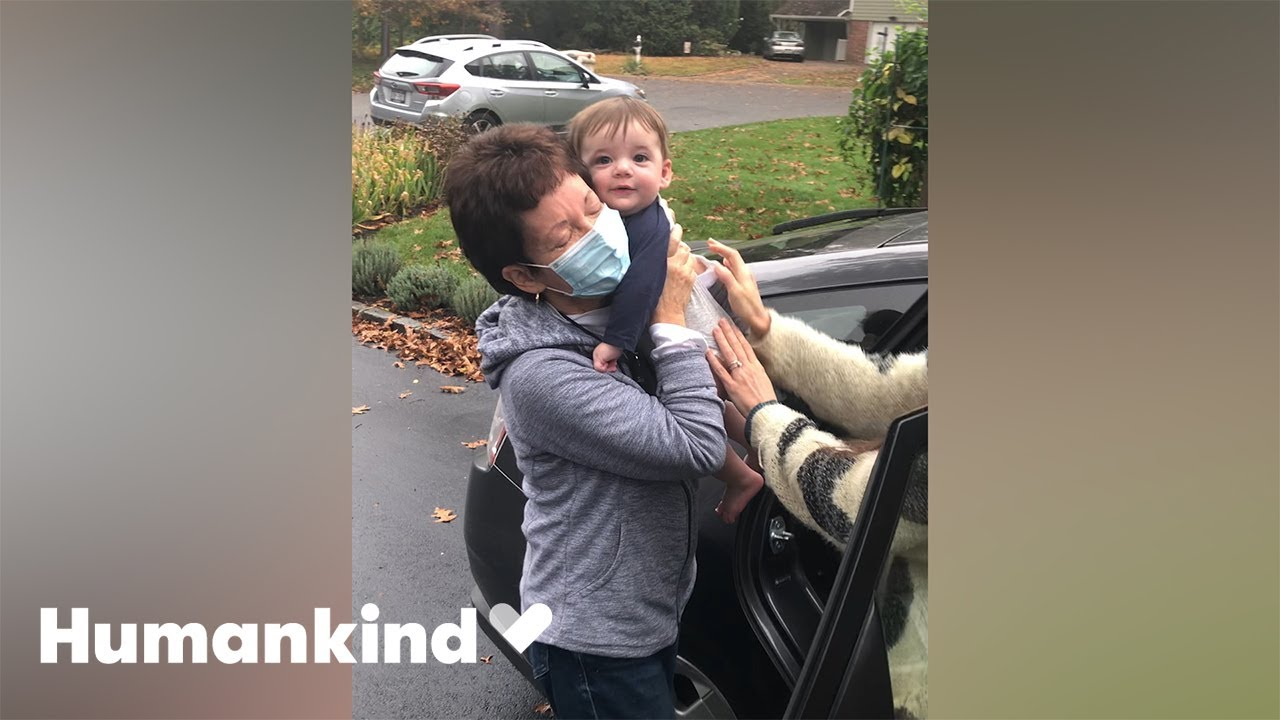 Grandma rejoices as she holds grandson for first time   Humankind